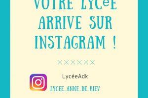 Votre lycée arrive sur instagram